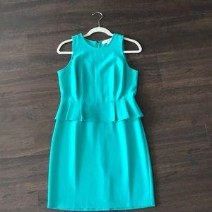 Teal Peplum Dress - Loft Petite!